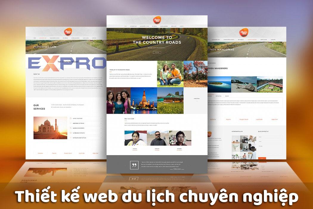 Thiết kế website du lịch chuyên nghiệp tốt nhất dễ lên top Google